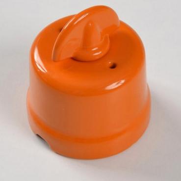 interruttore #deviatore #pulsante #rotativo #ceramica #porcellana #arancione