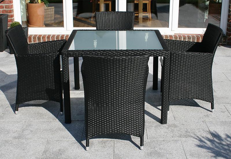 tavolo 4 sedie rattan giardino arredo