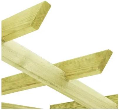 panca #grigliato #legno #impregnato #angolare #rampicante #arredo giardino #sandroshop