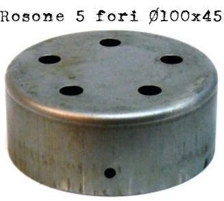 rosone #5 #uscite #lampade #portalampade #vintage #industriale #fori #diametro 100 #ferro #metallo