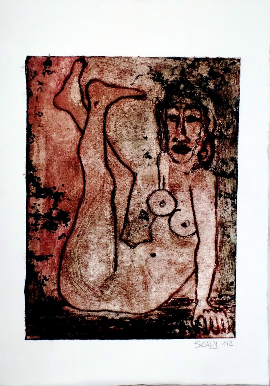 Lascive n°1 - 21/17 cm - gravure sur carton. disponible FOR SALE