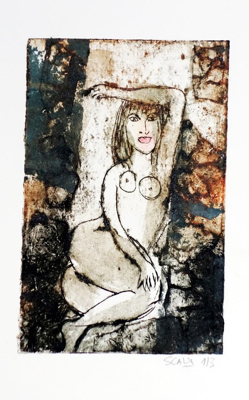 Lascive n°3 -17/21 cm-  gravure sur carton- disponible FOR SALE