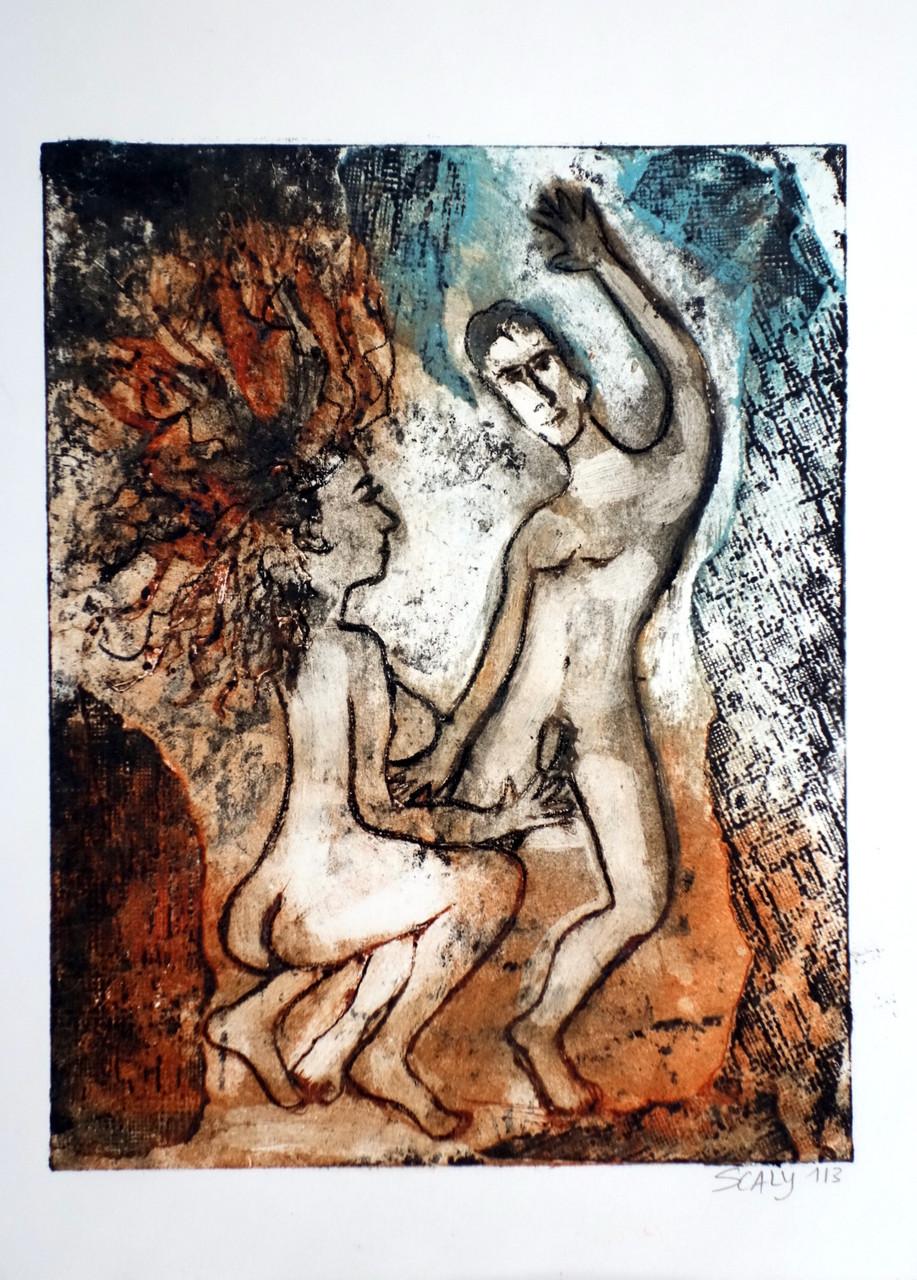 Dance love-  21/28 cm - gravure sur carton. disponible FOR SALE