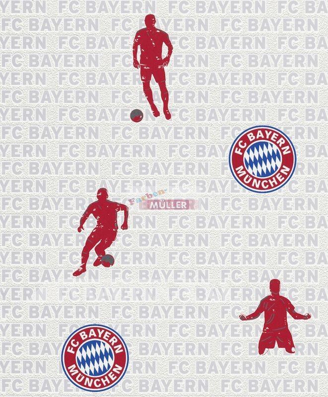 16,2 Rekordmeister FC BAYERN MÜNCHEN Panel Allianz Arena Tapete Vlies Foto Logo