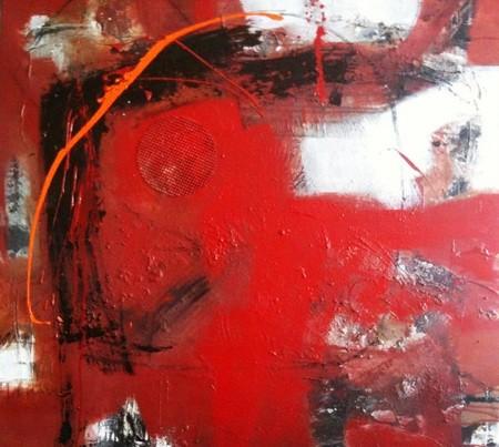 Bild: Lebensfreude pur:  100 x 100 cm, auf Leinwand, Acryl-Mischtechnik (in Privatbesitz)
