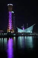 ライトアップされたポートタワー