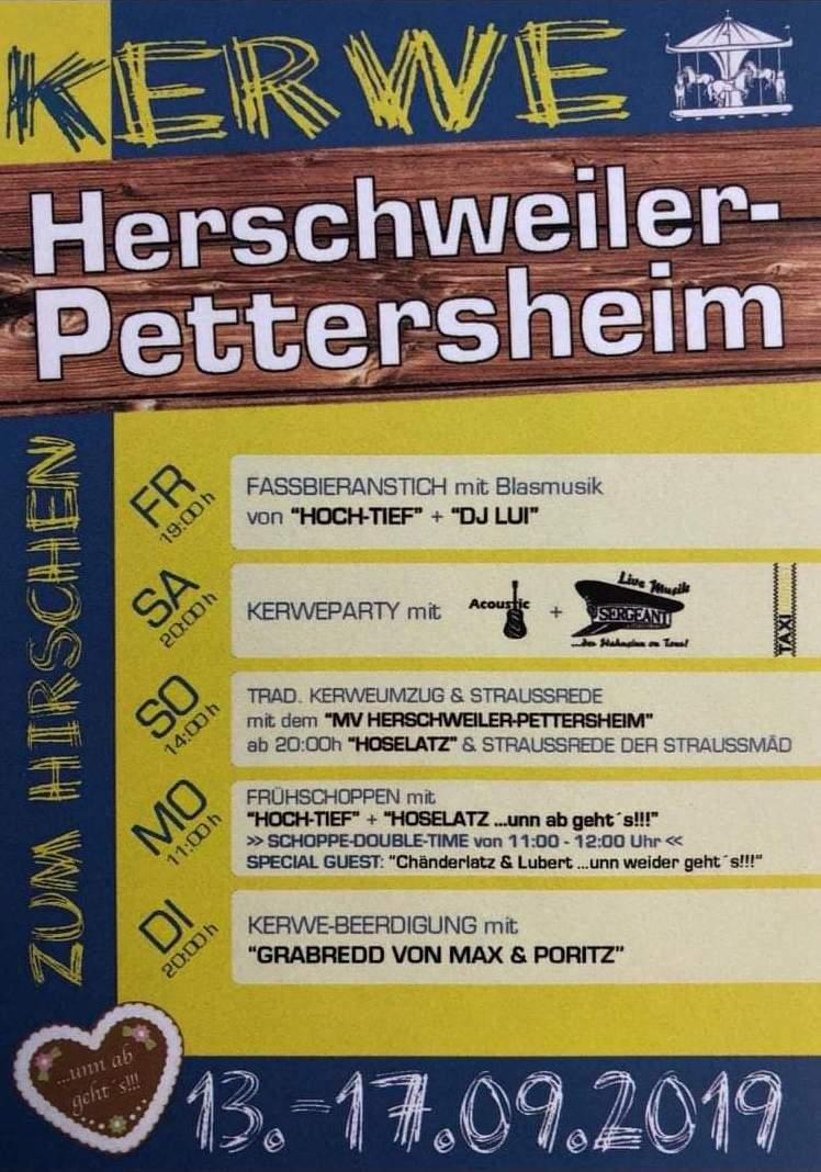 """Kerwe im Gasthaus """"Zum Hirschen"""""""