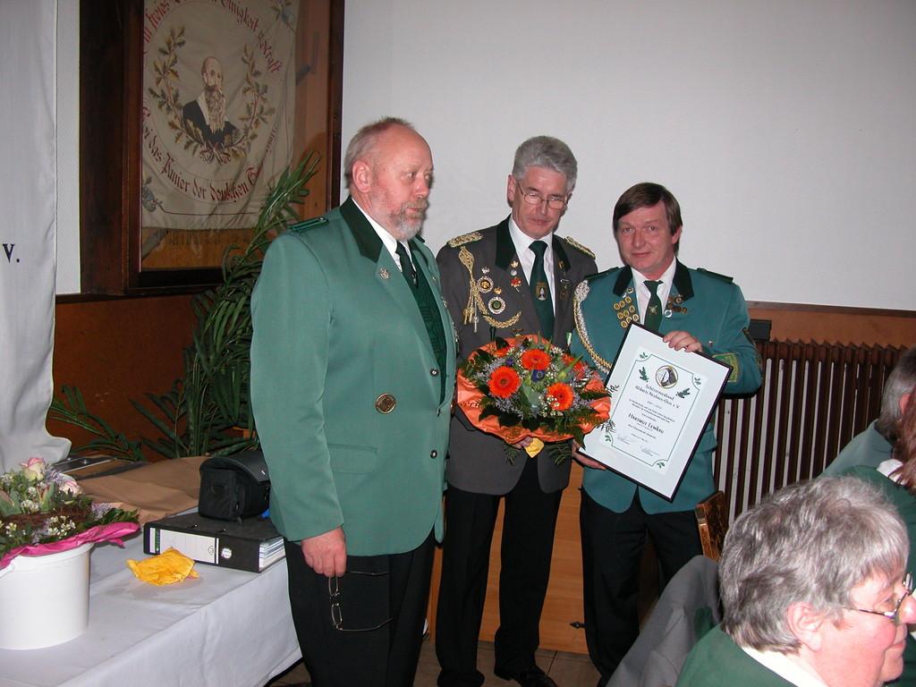 Verabschiedung von Hartmut Lemkau nah  9 Jahren Vorstandszugehörigkeit.   Foto W. Röndigs
