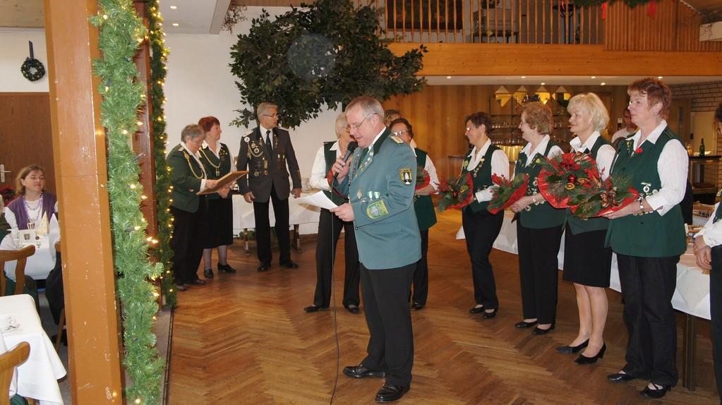 Grußworte des Schützenverbandes Altkreis Neuhaus-Oste e.V. durch  Stefan Thiele (stellv. Kreisschützenmeister)