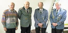 Langjährige Mitglieder wurden auf der Hauptversammlung des Schützenvereins