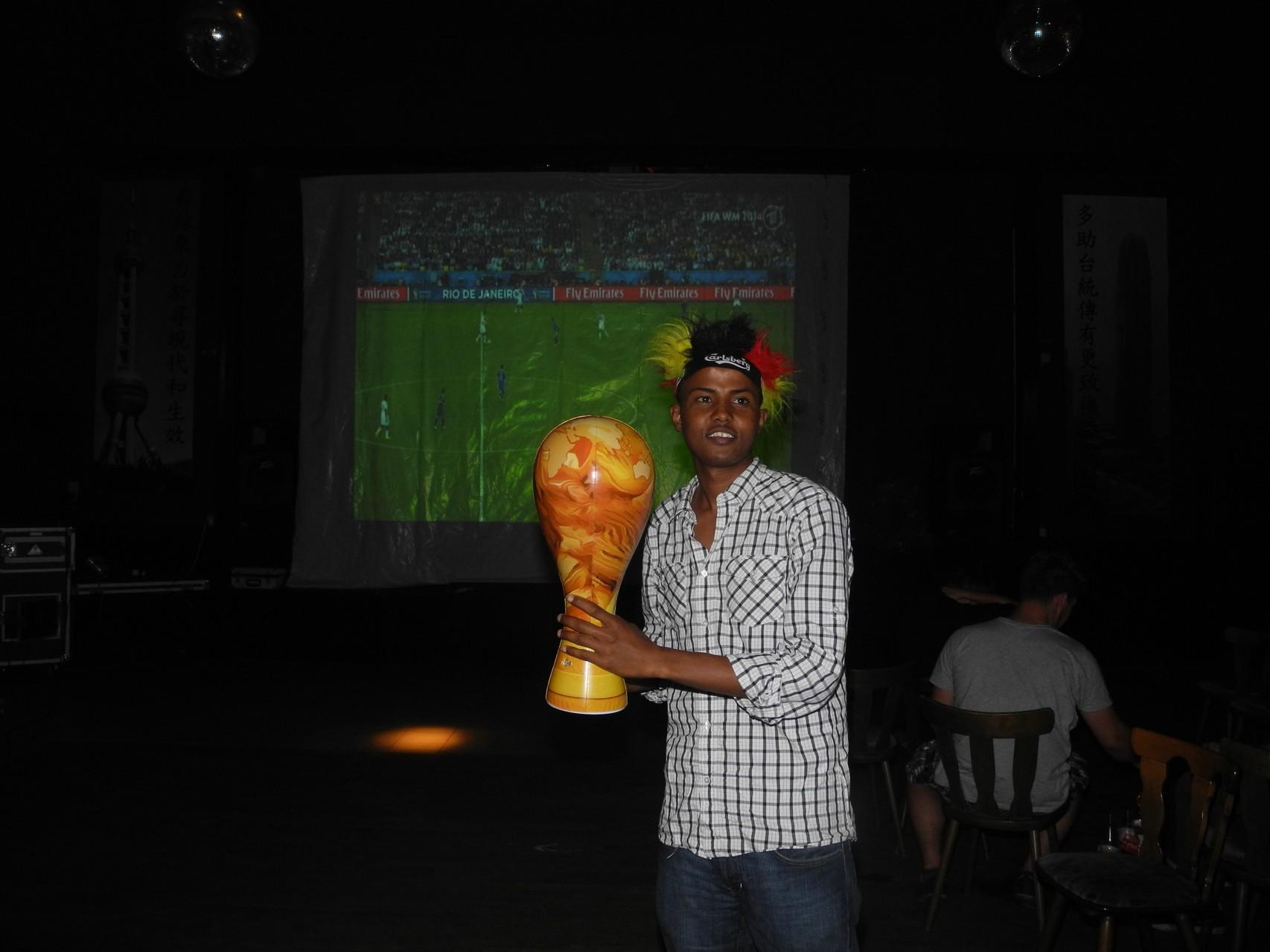 In der Festhalle am Bürgerpark wurde das WM-Finale gezeigt