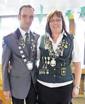 Lars Robohm und Andrea Rückleben sind das neue Kaiserpaar. Foto: red