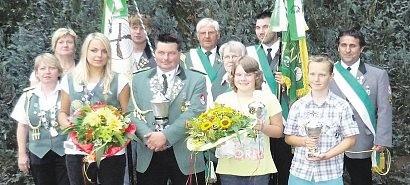 Alle Majestäten beim Schützenverein Klint konnten in diesem Jahr wieder besetzt werden.