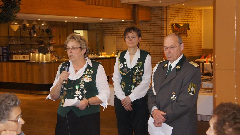 Begrüßungsansprache von Anita Buck (Vorsitzende der Damenabteilung)