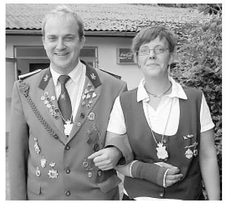 Das neue Kaiserpaar: Kaiser Torben Unglaube und Kaiserin Bianca Fonfara