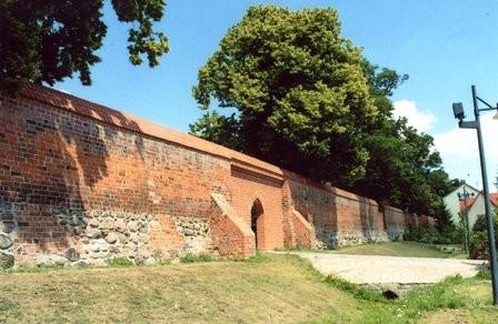 Teile der gut erhaltenen Mauer am Oberwall