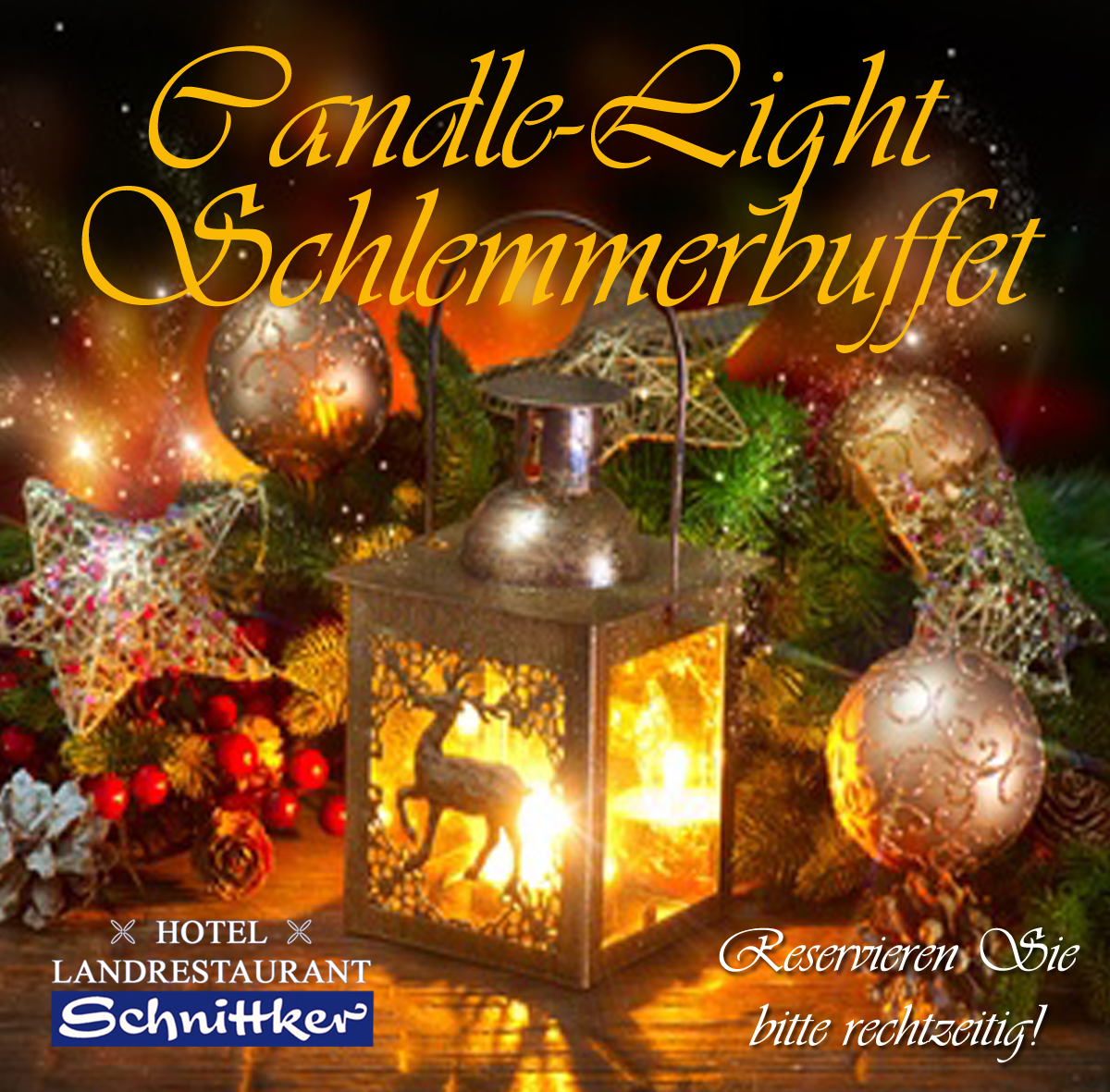 Weihnachts-Candle-Light Buffet