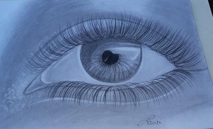 Zeichnung Auge , von Lawa H., M-Gruppe Jugendliche