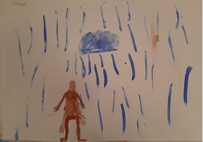 """...im Regen.... , zum Thema """"Element Wasser"""", von Sinziana  B."""
