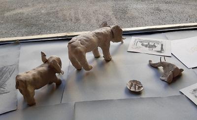 Thema Elefanten -entstand spontan in der Malakademie Jugend im März 2021, und wurde von vielen aufgenommen ...