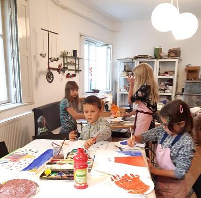 pure Freude den Kids beim Malen zuzuschauen !