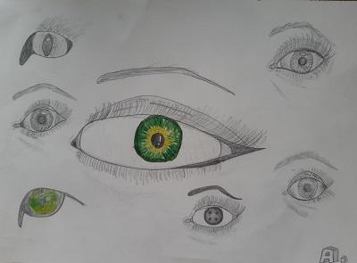 Augenstudie von Anna L., M-Gruppe Jugendliche
