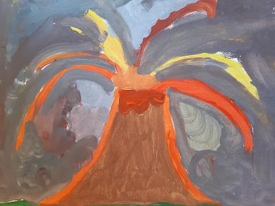 ...ein Vulkanausbruch...