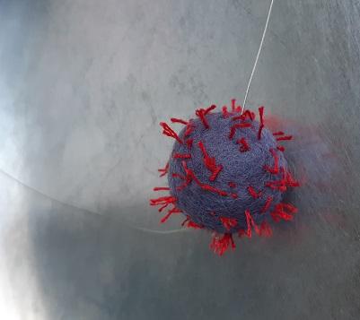 Filzkugel einzeln auf Draht, ca. 3 cm dm, 15.-eu, in anderen Farben auf Bestellung