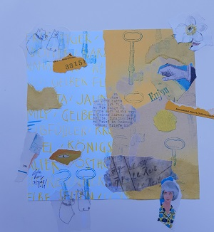 Collage in gelb