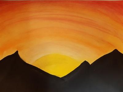 Sonnenuntergang von Sahra , Malakademie Jugend