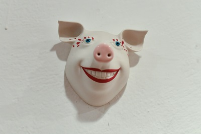 Wandschwein von Margit Russnig