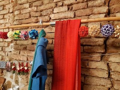 handgewebter Schal von Neda Bevk