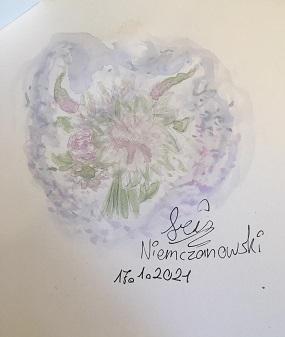 """Aquarell """"Blumenstrauß"""" von iris N. im Lockdown entstanden"""