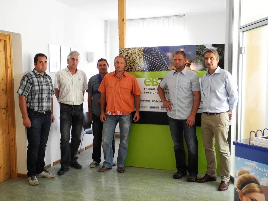 vl. Elektro Schuller, DI. Loik, Hr. Lasser, Ing. Dobringer, EB Tiefenbacher