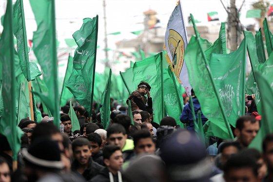 Manifestation du 29e anniversaire de la fondation du Hamas. alquds.com, 12 12 2016.