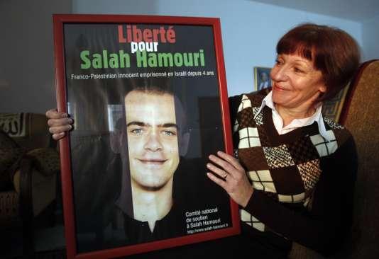 La mère de Salah Hamouri, en 2011 à Jérusalem. AHMAD GHARABLI / AFP