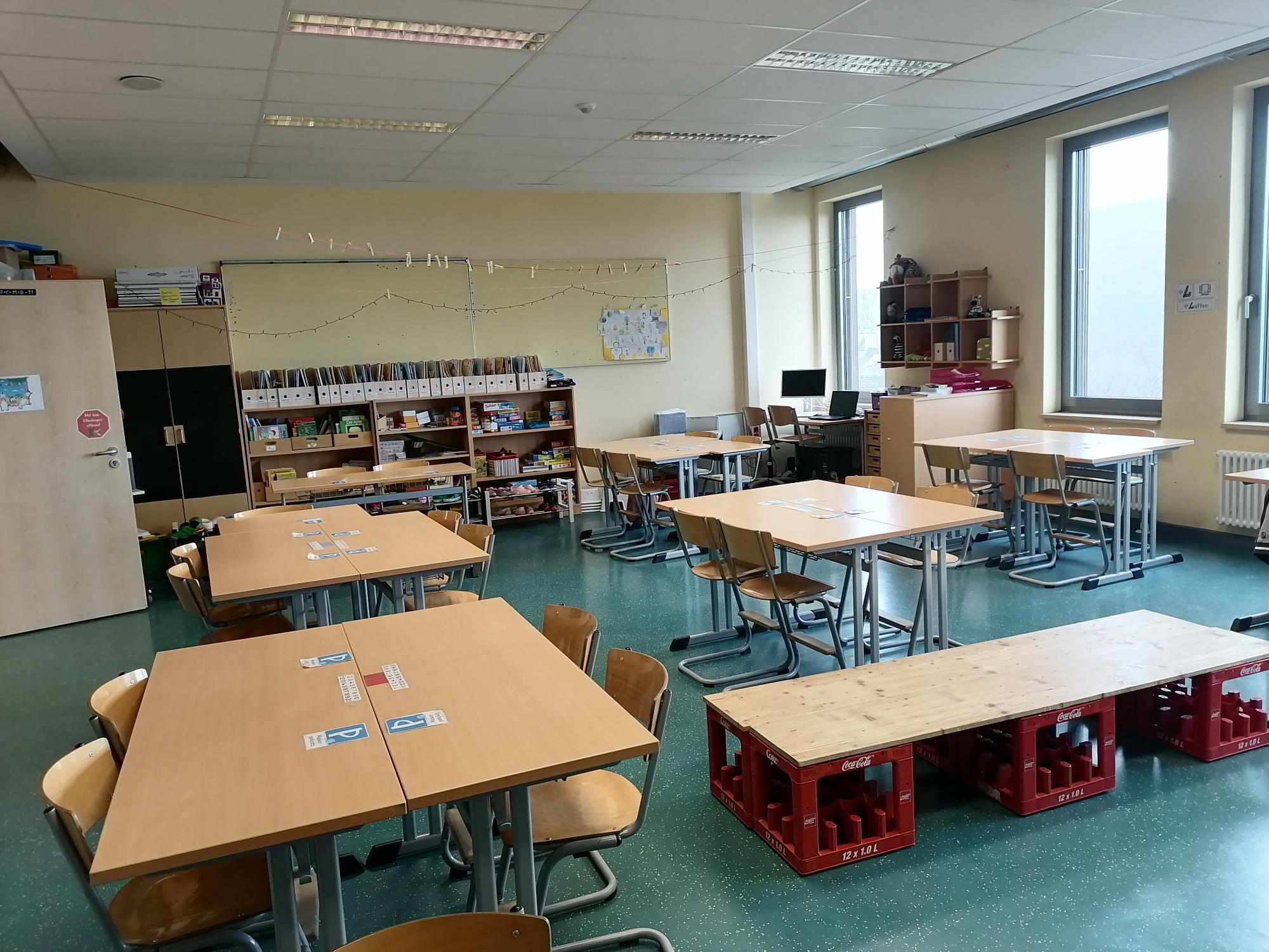 Klassenraum Neubau Obergeschoss