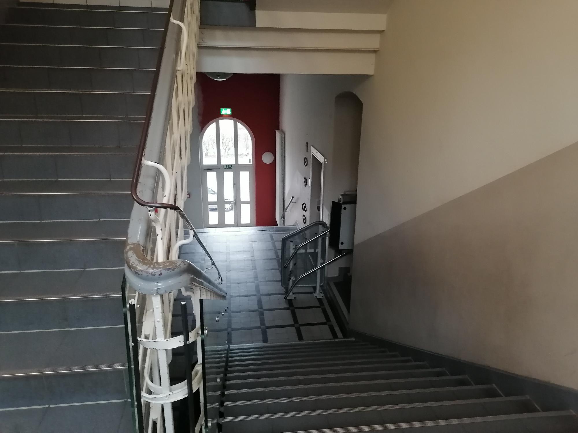 Treppenhaus Untergeschoss Betreuungsräume