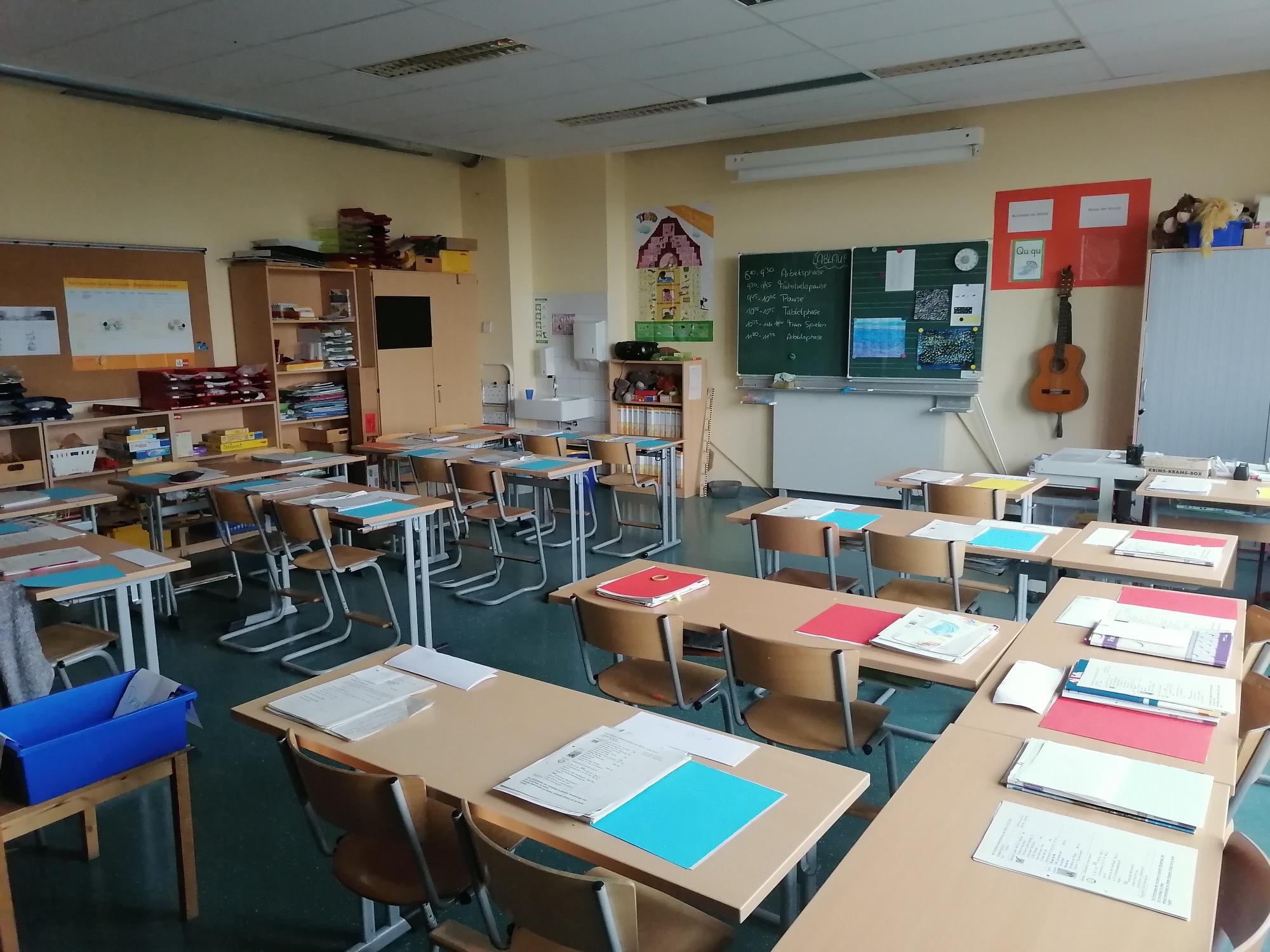 Klassenraum Neubau Erdgeschoss