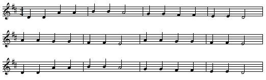 キラキラ星(五線譜)