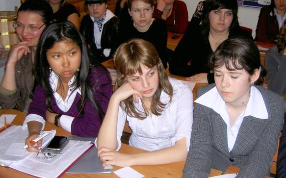 школьники крупным планом