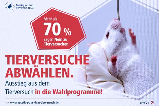 Tierversuche abwählen! Ausstieg aus dem Tierversuch!