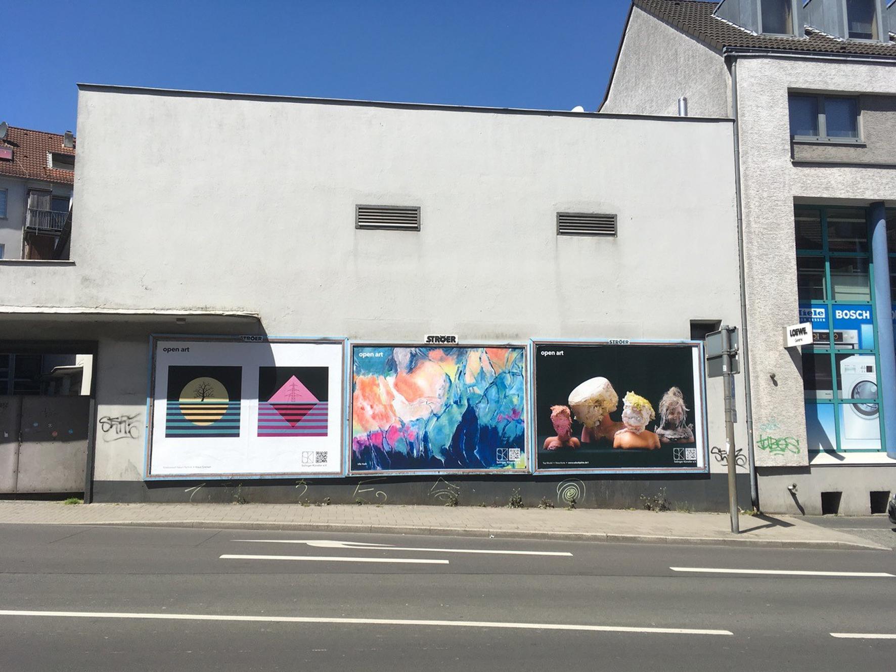 Klaus Greinert, Ulle Huth und Petra Korte, Cronenberger Str., geg. 28, Nähe Clemens Galerien, Innenstadt