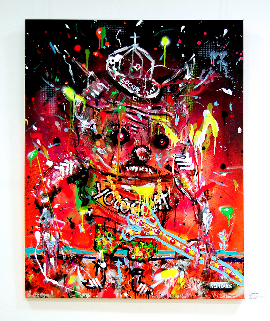 YOLOCAUST, 2014, mixed media on canvas, 90x70cm