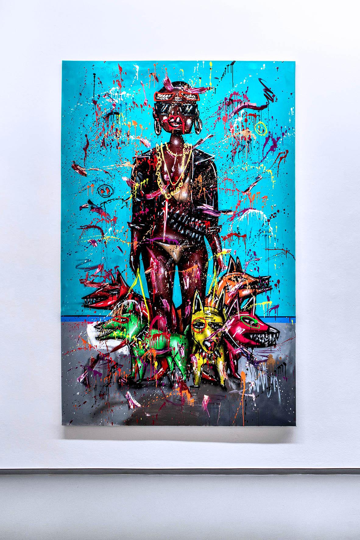 GERMANIA, 2019, mixed media on canvas, 280x180cm