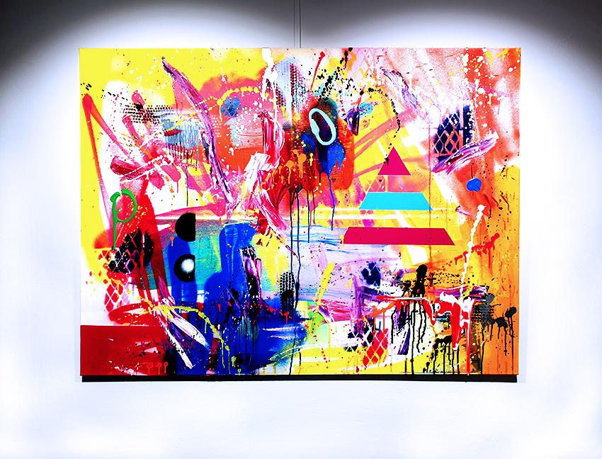 SEHNSUCHT NACH DER SEHNSUCHT, 2020, mixed media on canvas, 90x120cm