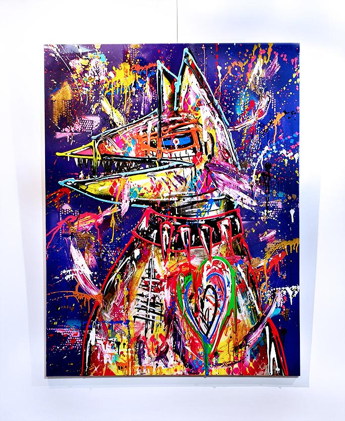 ICH SEHE AUS WIE EIN FREIZUSPIELENDER CHARAKTER, 2020, mixed media on canvas, 120x90cm