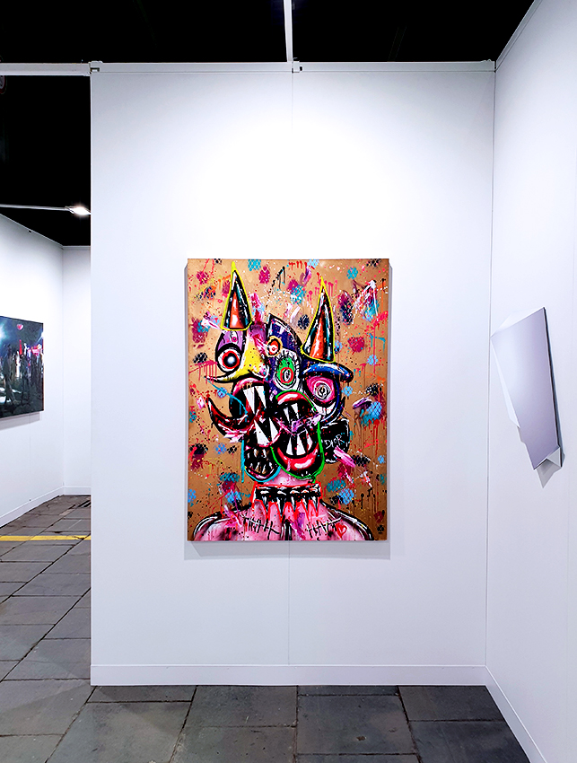 ONLY GOD CAN JUDGE ME, 2020, mixed media on wood, 140x100x3,5 cm