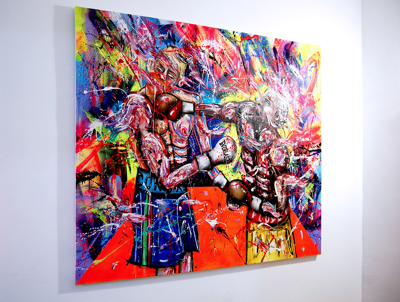 POWER, 2018, mixed media on canvas, 150x170cm