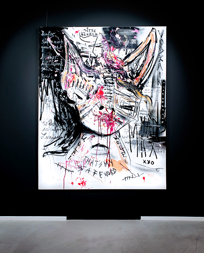 I HAVE CHRISTMAS IN MY HEART, 2014, mixed media on canvas, 180x140cm